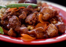 Asian orange chicken dish Royalty Free Stock Images