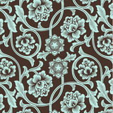 Asian ornamental colored antique floral pattern. Royalty Free Stock Photo