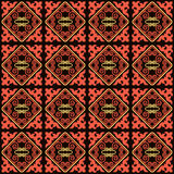 Asian ornaments collection. Historically ornamental of nomadic people. It based on real-Kazakh carpets of felt and wool. Seamless asian ornaments collection Stock Images