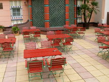 Asian outdoor restaurant. In czech republic Royalty Free Stock Photography