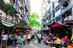 Asian outdoor traditional market Royalty Free Stock Photography