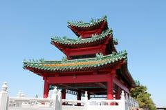 Asian Pagoda. View of an Asian styled pagoda Royalty Free Stock Photo