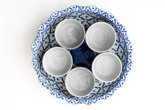 Asian Painted Bowl Royalty Free Stock Photography