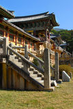 South Korea, Korean buddhist temple pagoda, Tongdosa. Typical Asian Temple or Palace building in scenic setting (picture is of part of Tongdosa Temple in South Stock Images