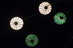 Asian paper lampion lights. In Hoi An, Vietnam royalty free stock photo