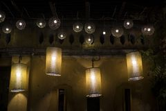 Asian paper lampion lights. In Hoi An, Vietnam stock image
