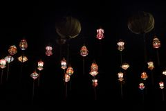 Asian paper lampion lights royalty free stock images
