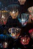 Asian paper lampion lights. In Hoi An, Vietnam stock photos