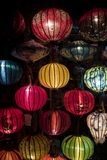 Asian paper lampion lights. In Hoi An, Vietnam stock photography