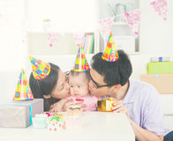 Asian parent with baby stock photo