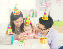 Asian parent with baby stock photos