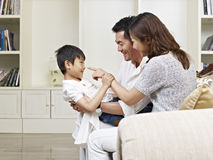 Asian parents and son Royalty Free Stock Photo