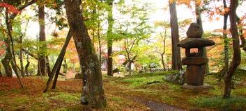 Asian park in autumn Stock Photo