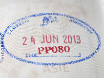 Asian passport  rubber stamp Royalty Free Stock Photos
