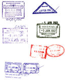 Asian passport stamps vectors Stock Photos