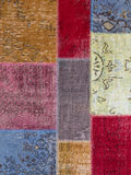 Asian patchwork carpet in Istanbul, Turkey Royalty Free Stock Photography