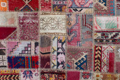 Asian patchwork carpet in Istanbul, Turkey Stock Photography