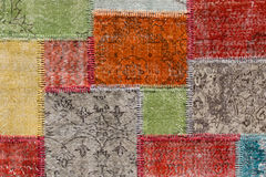 Asian patchwork carpet in Istanbul, Turkey Stock Photos
