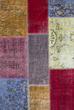 Asian patchwork carpet in Istanbul, Turkey. Royalty Free Stock Image