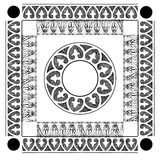 Asian pattern. Asian decorative ornament in color Black and white Stock Photo