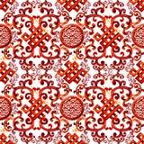 Asian pattern. east seamless ornament. watercolor ethnic background. Asian pattern. east seamless ornament. watercolor hand drawn ethnic background royalty free illustration