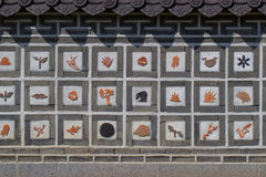 Asian patterns on construction in Kiev botanical garden Royalty Free Stock Photo