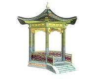 Asian Pavilion. Isolated asian pavilion Royalty Free Stock Photography