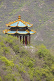 Asian pavilion in the mountains Royalty Free Stock Photo