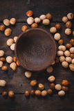Asian peanuts snacks mix Stock Image