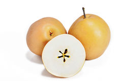 Asian pear fruit or pyrus pyrifolia royalty free stock images