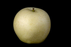 Asian Pear or Golden Pear on Black Background Stock Image