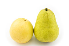 Asian pear and pear Stock Images