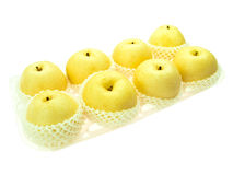 Asian pears in container Royalty Free Stock Images