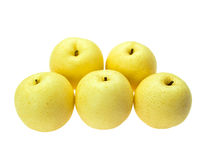 Asian pears in group of 5 Stock Image