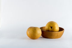 Asian Pears on White Background Royalty Free Stock Photo