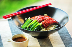 Asian Peking Duck noodle Stock Photos