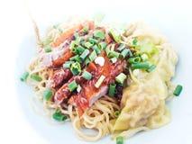 Asian Peking Duck noodle Stock Photo