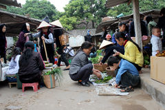 Asian peole in rural market Stock Photos