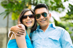 Asian people in exotic environment Stock Image