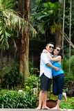 Asian people in exotic environment Royalty Free Stock Photography