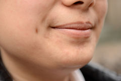 Asian people lips. Yellow lips, Asian Stock Image