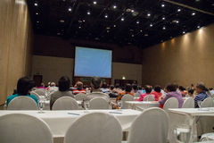 Asian people participate in the seminar Stock Photography