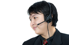 Asian Phone Operator Stock Photography