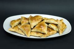Asian pies with meat samsa Stock Photo
