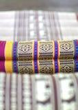 Asian pillow fabric art pattern Royalty Free Stock Photography