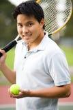 asian player tennis young Στοκ φωτογραφία με δικαίωμα ελεύθερης χρήσης
