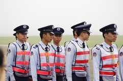 Asian police officers Royalty Free Stock Photos