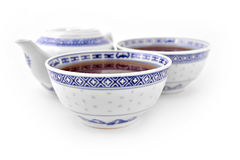 Asian Porcelain Tea Set Stock Photography