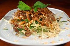 Asian pork dish. Asian pork noodle dish entree stock photo