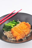 Asian pork fritter noodle Stock Photo